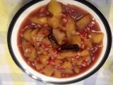 Membrillo con salsa de granadas